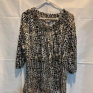 Leopard 3/4 sleeve blouse